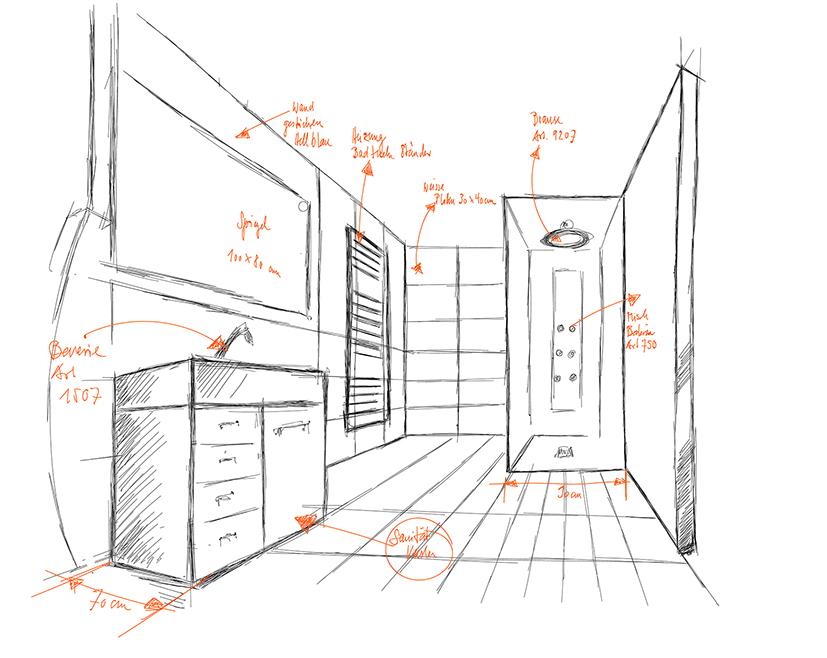 Skizze Visualisierung, Keramik-Bau AG, Gossau
